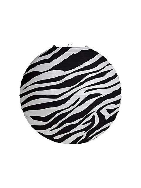 Zebra Print Paper Lantern