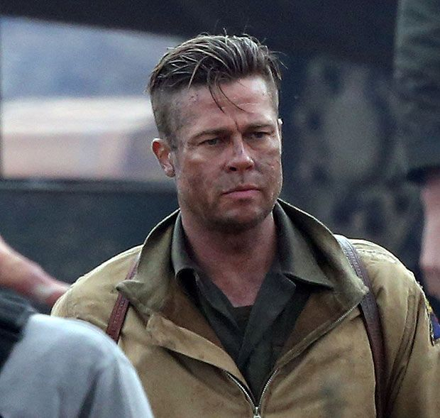 Best Brad Pitt Fury Ideas On Pinterest Brad Pitt Fury Hair - New official trailer fury starring brad pitt