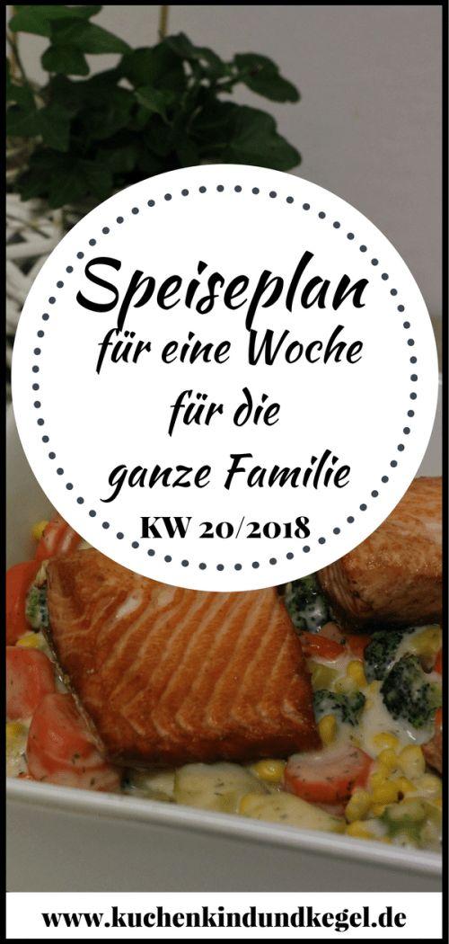 Speiseplan für die Woche 20/2018 – Ideen für die ganze Familie  #wochenplan essen