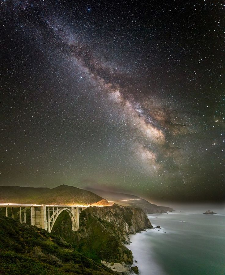 Bixby Bridge Big Sur California Starry Starry Night