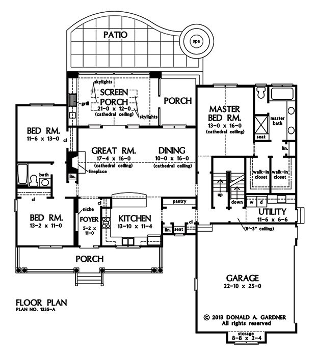 19 best images about don gardner house plans on pinterest for House plans with great room in front