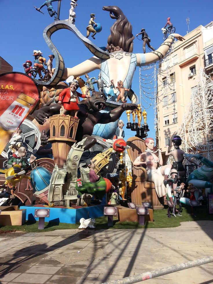 Falla Cuba Literato Azorin  March 2015 Valencia - Spain
