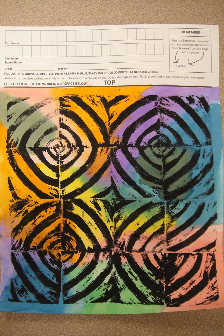 Framed in Swirly Gold: Square 1 Art Projects