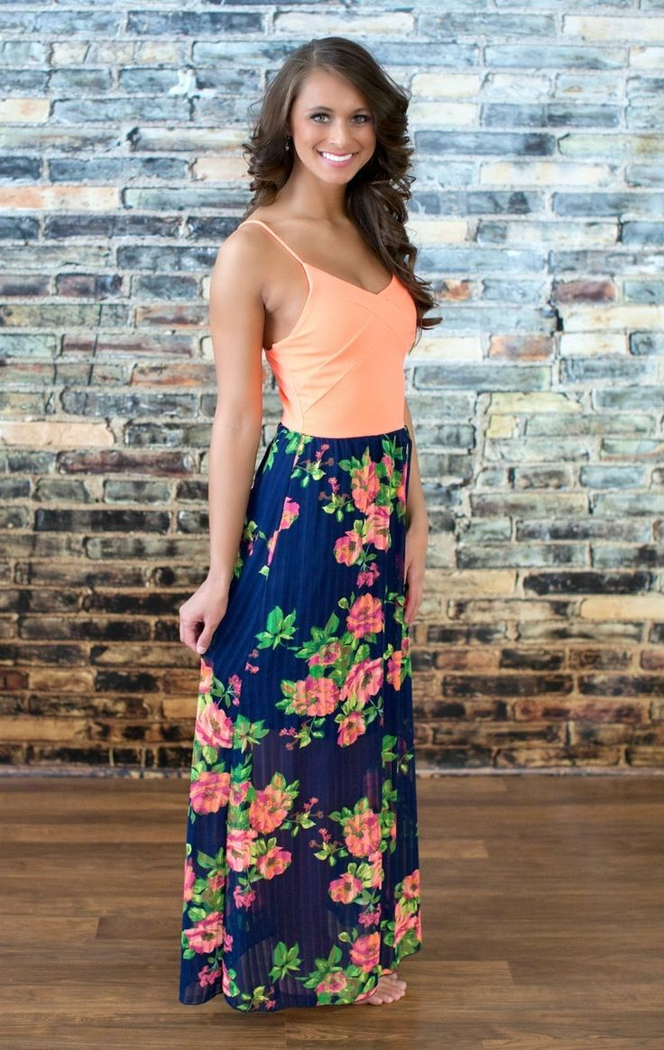 The Pink Lily Boutique - The Secret Garden Maxi , $42.00 (http://thepinklilyboutique.com/the-secret-garden-maxi/)