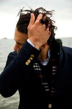 Stylish Man, Navy Blazers, Fashion Style, Men Style, Jackets, Men Fashion, Buttons, Hair, Man Style