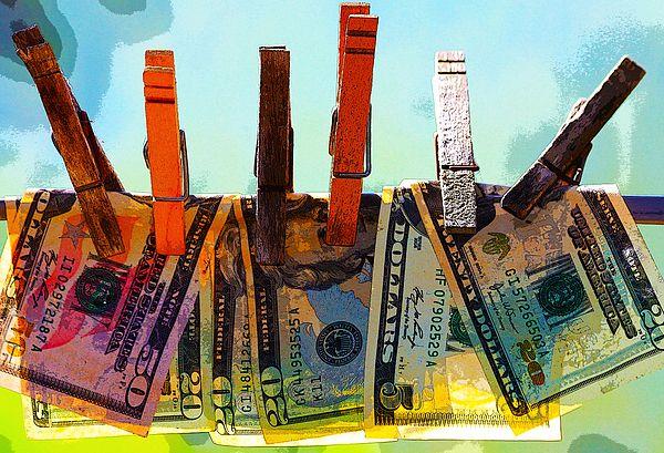 Money Laundering Digital Art