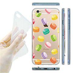 maycari® de wereld van macarons transparante zacht TPU achterkant van de behuizing voor de iPhone 6 / 6s – EUR € 2.93