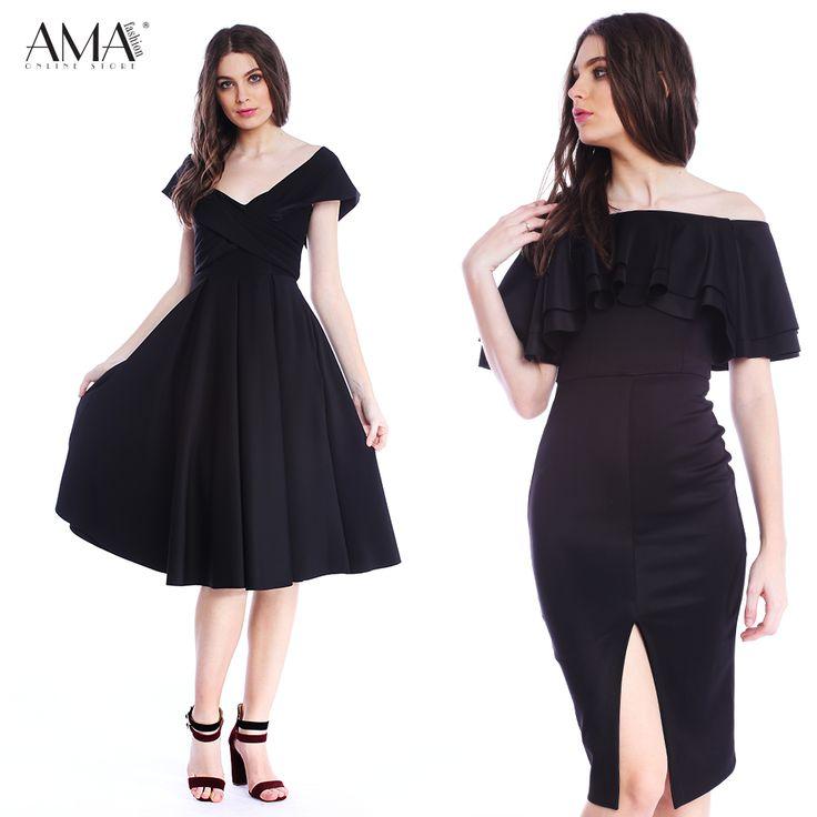 Rochii negre elegante, potrivite pentru orice varsta, stil sau silueta.  Marimi de la 34 la 52.