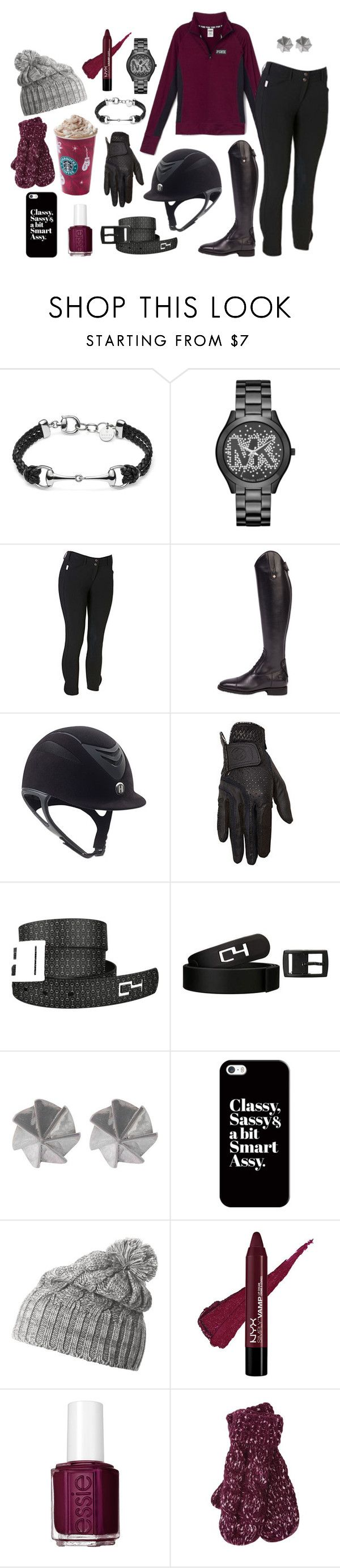 """Winter Berry"" by equestrianartist ❤ liked on Polyvore featuring Gucci, Michael Kors, Victoria's Secret, Edge Only, Casetify, Helly Hansen, Essie and M&Co"