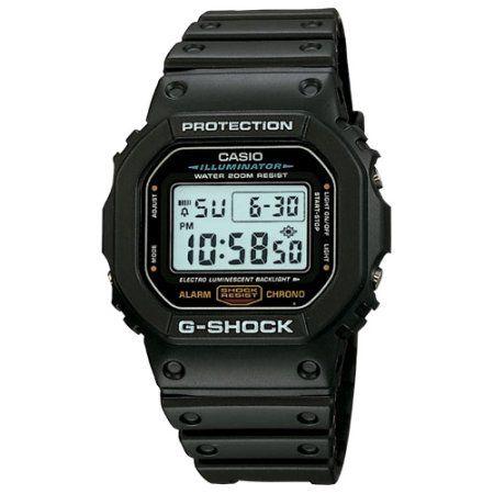 Casio G-Shock DW5600E-1V Wrist Watch - Men - SportsChronograph - Digital - Quartz, Black
