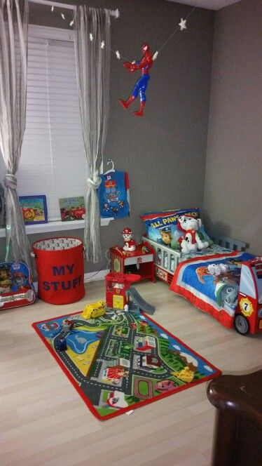 Paw Patrol Inspired Room Boy Toddler Bedroom Toddler