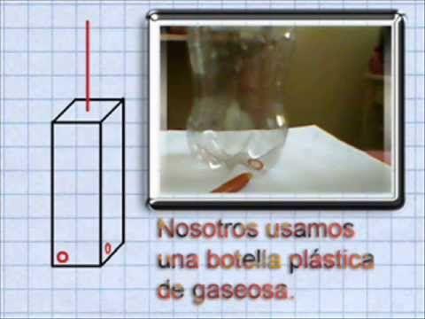 Experimento sobre tercera ley de Newton, usando botella pástica.