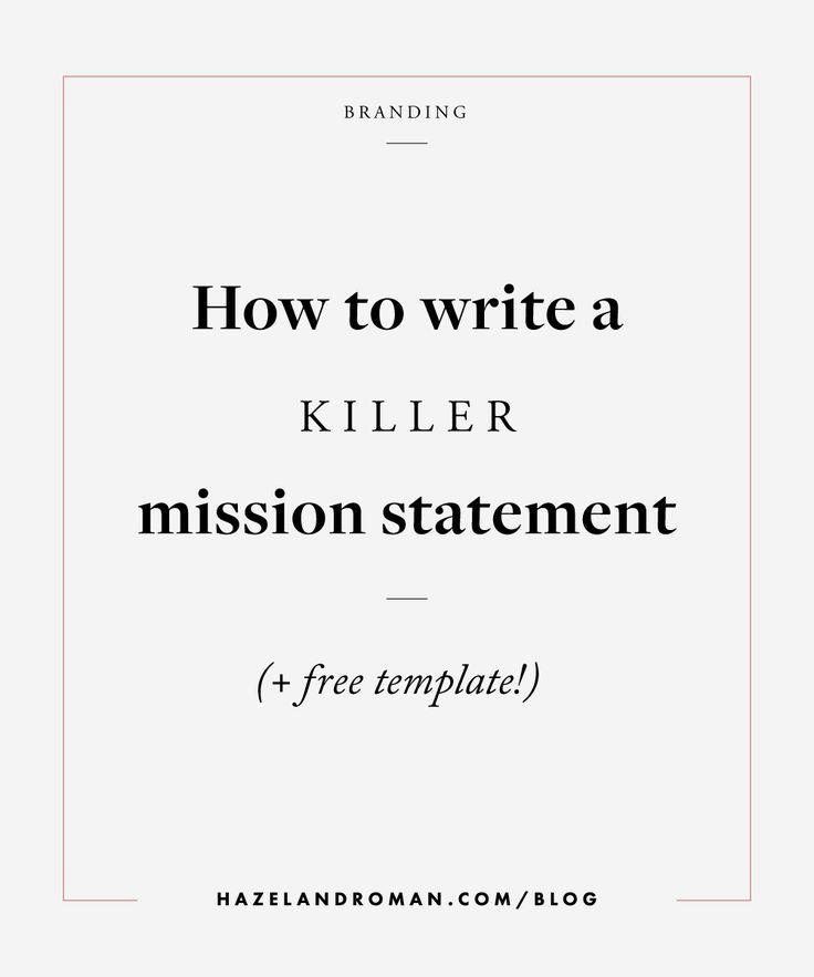 25+ unique Mission statement template ideas on Pinterest - purpose statement template