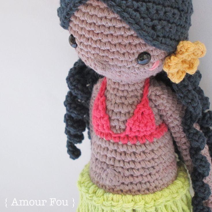 Leilani, the Hawaiian dancer - Crochet Pattern by {Amour Fou}