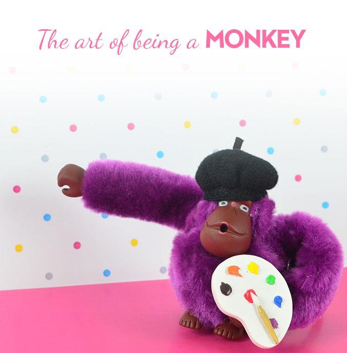 Kipling Artist Monkey Keyring Only one left at www.lesleyashworth.co.uk