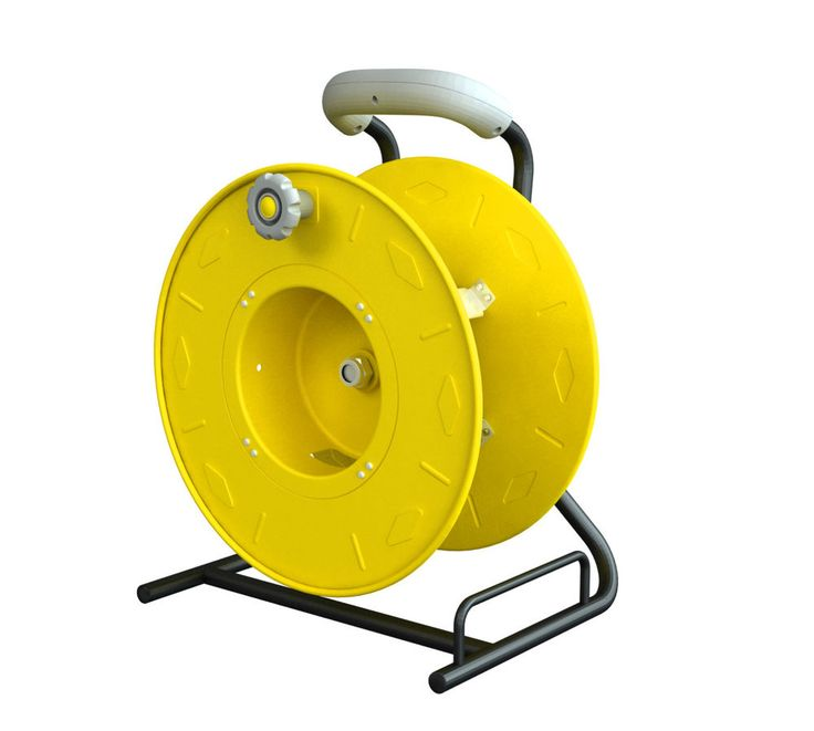 Professional Wind-Up Cord Reel Holds up to 100 ft. SO 12/3 Extension Cord 7100CC #AlertStampingPro