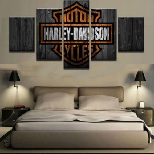 5-pcs-set-Motor-Harley-Davidson-Cycles-Painting-Canvas-Wall-Art-Home-Decorative