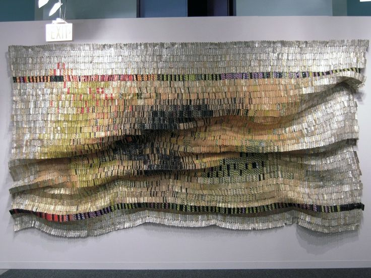 """el anatsui--""""El Anatsui"""", says Professor Vogel, """"is the first black African artist continuing to live in Africa who is making work of a grandeur and depth that is going to last.""""  (this is made from bottle caps)"""