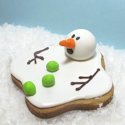 SnowmanChristmas Parties, Holiday, Ideas, Christmas Cookies, Melted Snowman, Food, Decor Cookies, Cookies Recipe, Snowman Cookies