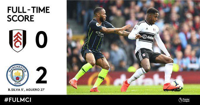 Final Score Fulham 0 Man City 2 No Surprises Could Have Been
