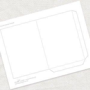 pocket envelope template