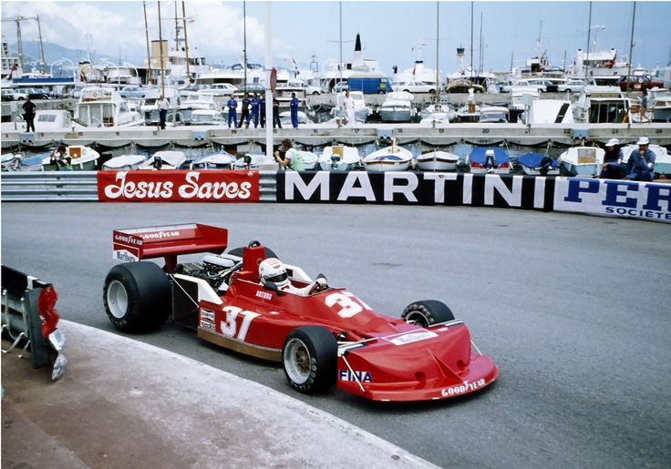 Arturo Merzario drives the #37 Team Merzario March Ford 761B during practice for the Grand Prix of Monaco on 21 May 1977 on the streets of the Principality of Monaco in Monte Carlo, Monaco.