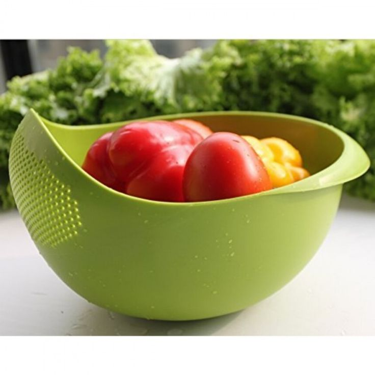 Cubee Multipurpose Washing Bowl & Strainer In Green Color
