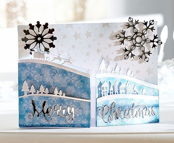 Card made using the Sara Signature Contemporary Christmas collection from Crafter's Companion