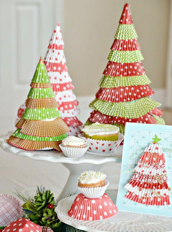 Créer des décos de Noël en forme de sapin