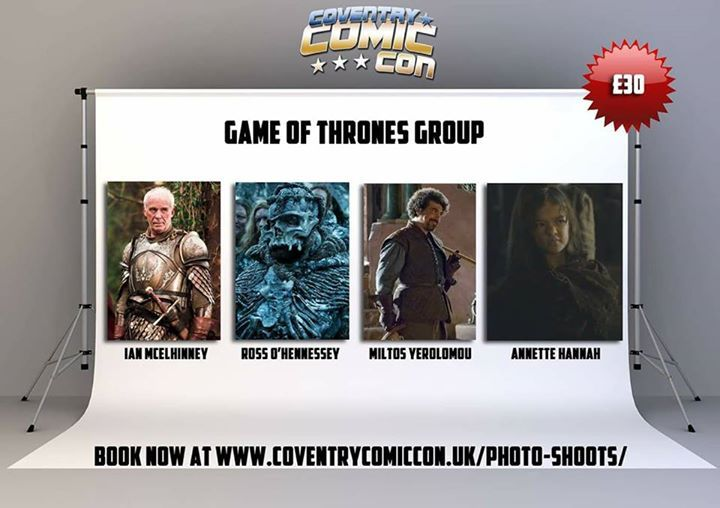 We are pleased to announce a variety of GoT guests will be attending Coventry Comic Con along with the HBO approved Iron Throne. They will be available for autographs and photoshoots. Visit www.coventrycomiccon.uk for tickets. #gameofthrones #Dragons #gotseason7 #GoTS7 #jonsnow #kitharington #stark #winterfell #aryastark #sansastark #maisiewilliams #got #lannister #tyrionlannister #daenerystargaryen #emiliaclarke #motherofdragons #kinginthenorth #winteriscoming #winterishere #cercei