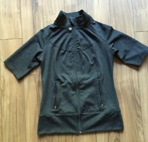 Yoga Jacket Shirt Top Short Sleeve Fruv Size 6 Grey ���� | eBay