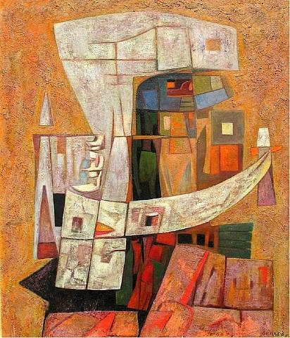 "1956. Gunther Gerzso is viewed by some critics as comparable to Pablo Picasso and Joaquin Torres-Garcia. He is ""one of the great Latin American painters,"" according to Octavio Paz, the Nobel Prize-winning Mexican author."