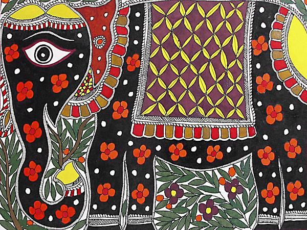 Indian Painting Styles...Madhubani/Mithila Painting (Bihar)-madhubani-elephants1-4-.jpg