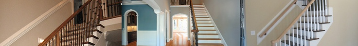 AYSCUES Trimwork Inc. Smithfield Staircase, Raleigh Custom Stairways, Baluster, Wrought Iron, Elegant Stairways