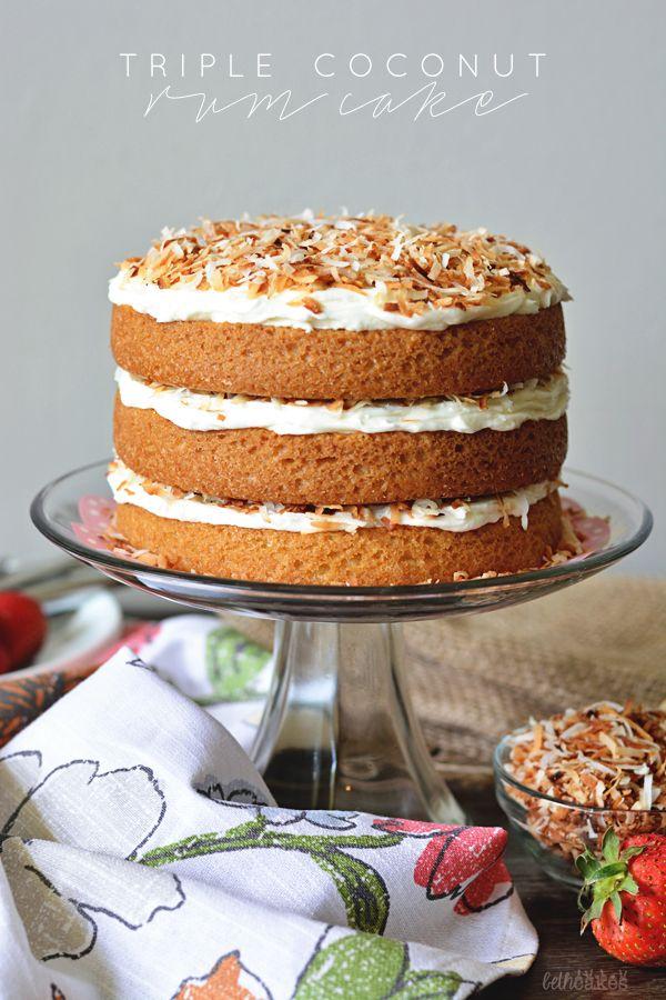 Triple Coconut Rum Cake from @bethcakesblog