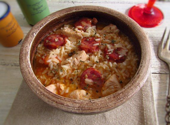 Chicken with rice and chorizo | Food From Portugal. If you like chicken with rice and want to give a special touch to your recipe, try this version with chorizo, it has a divine flavor and more appealing. Dare yourself!  http://www.foodfromportugal.com/recipe/chicken-rice-chorizo/