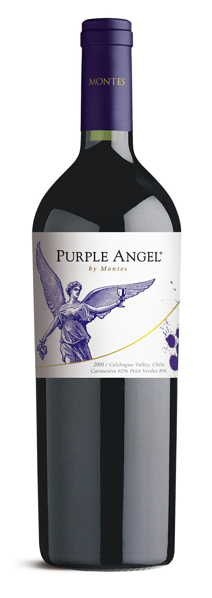 Carménère 2010 *Purple Angel* -  Viña Montes, Valle de Colchagua, Región de O'Higgins ----------------- Terroir: Valle de Colchagua (Valle del Rapel, Valle Central) - Región de O'Higgins