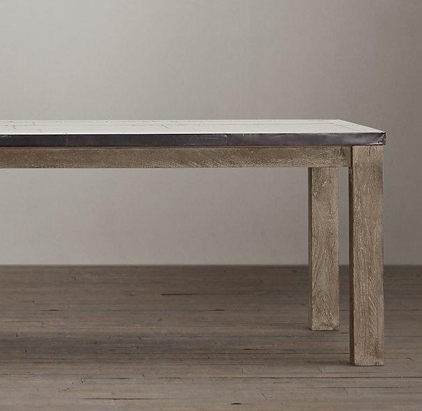 High Quality Parsons Railroad Tie Rectangular Dining Table | Rectangular Dining Tables | Restoration  Hardware