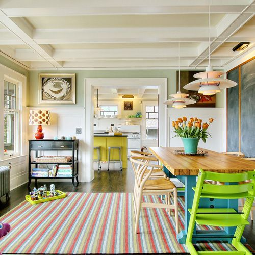 Fun colors and great ceiling!