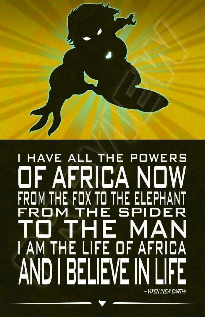 Vixen quote. Mari Jiwe McCabe. DC Comics