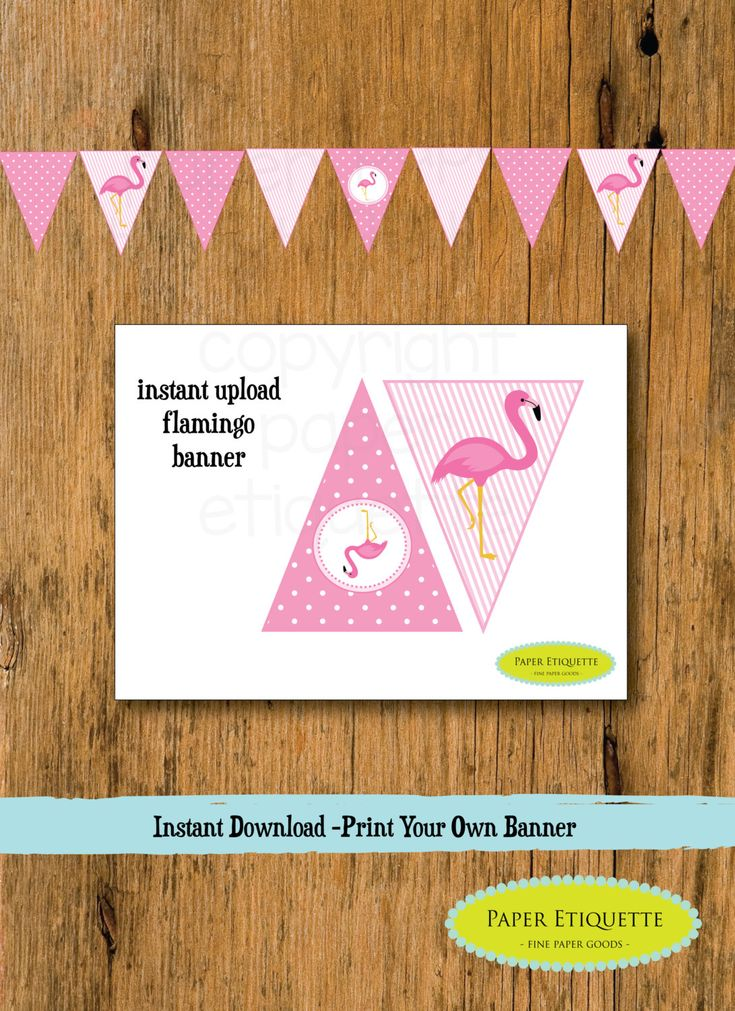INSTANT Upload Banner Flamingo - Flamingo Baby Shower or Flamingo Birthday Pennants(Print Your Own) Flamingle Party Banner Flamingo Birthday by PaperEtiquette on Etsy