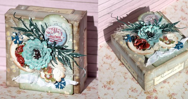 Lovely gift box made by Denise van Deventer with the ScrapBerry's Winter Joy collection