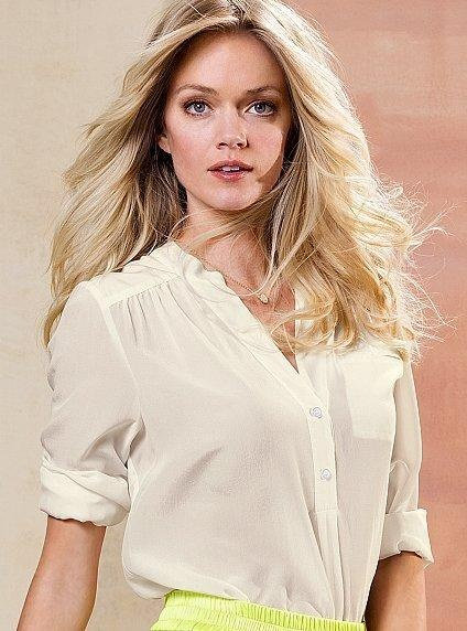 VS silk henley #blouse #top