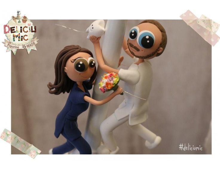Figurine de tort realizate pentru un cuplu haios de medici dentiști!