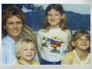 Diane Downs (left) was found guilty of shooting her children (l.-r.) Danny, Christie and Cheryl in 1983. Cheryl died from the shooting.