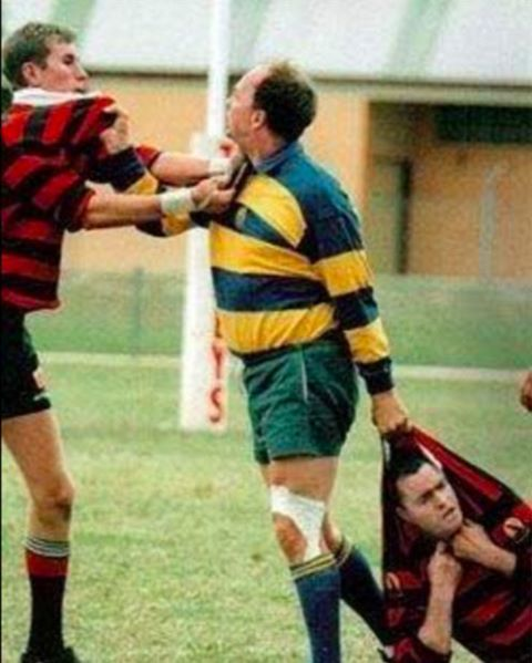 In rugby even the refs are tough!                                                                                                                                                                                 More