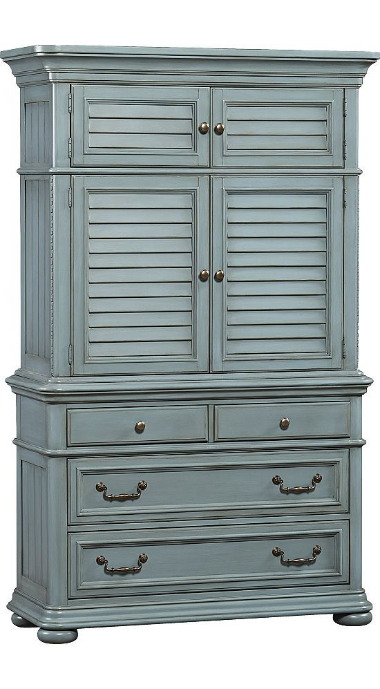 Media Rooms Welcome Home Armoire Slate Blue Media