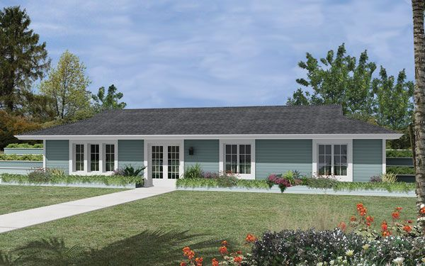 Berm homes traditional home design and house plans for Earth bermed home designs