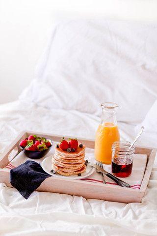 Desayuno en la cama, y éste tiene muy buena pinta!