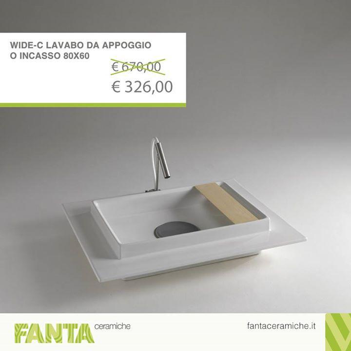 #OffertaDellaSettimana  Lavabo da appoggio in ceramica color bianco lucido.    http://ift.tt/2hLor47